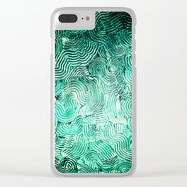 Spiralling down Clear iPhone Case