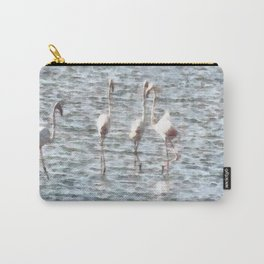 A Flamboyant Pat Of Flamingos Carry-All Pouch