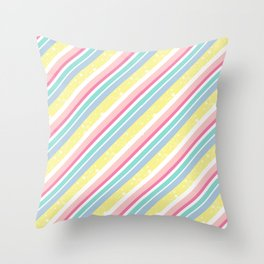 Party stripes Throw Pillow