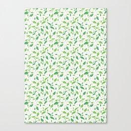Tea Leaves Pattern Canvas Print