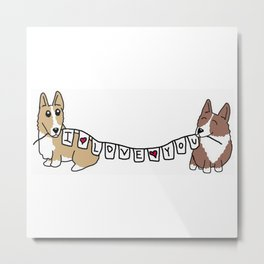 Corgis love you Metal Print