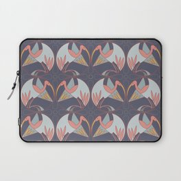Art Deco Cranes - Lavender/Pink Laptop Sleeve