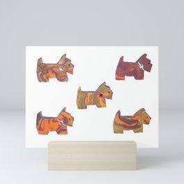 AUTUMN SCOTTIES Mini Art Print