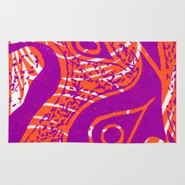 Linocut Print_2 Rug