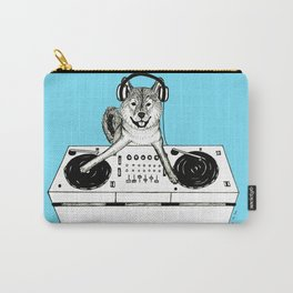 Shiba Inu Dog DJ-ing Carry-All Pouch