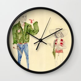 Travis Bickle and Iris Wall Clock