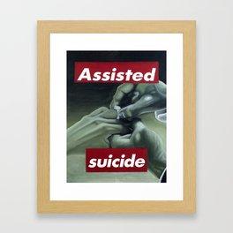 Assisted Suicide Framed Art Print