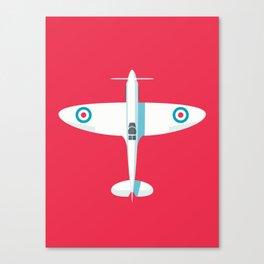 Spitfire WWII fighter aircraft - Crimson Canvas Print