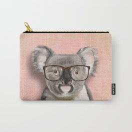 Funny koala with glasses Carry-All Pouch
