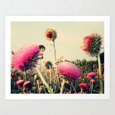 Flower World! Art Print
