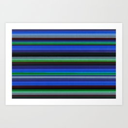 Colored Lines - Blue Art Print