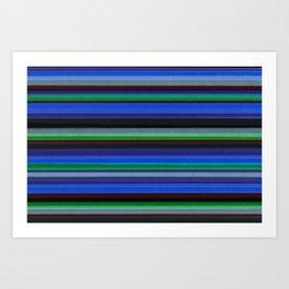 Colored Lines - Blue Art Print