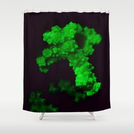 Fluorescent piece of coral Shower Curtain