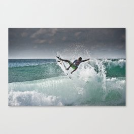 Filipe Toledo, Surfing in Hossegor, France, 2013.  Canvas Print