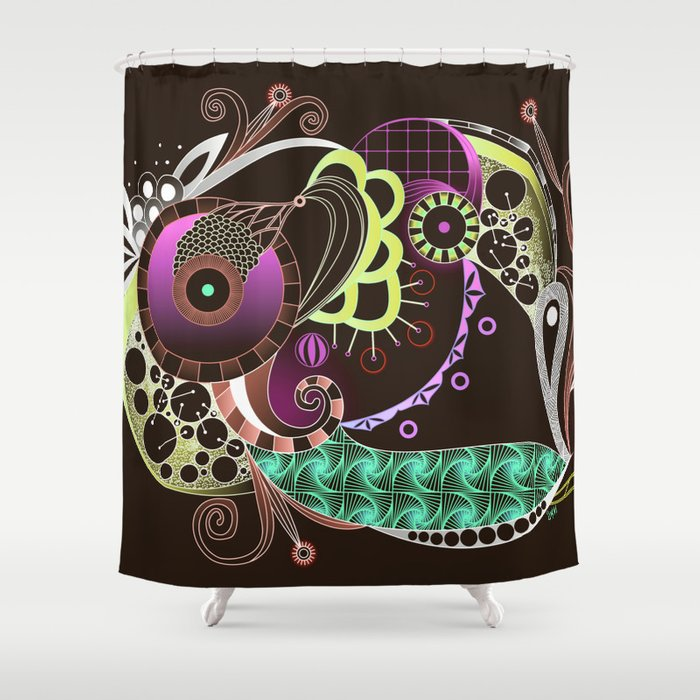 Autumn tangle night Shower Curtain