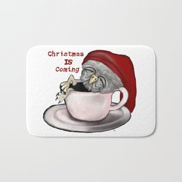 Christmas Coffee Bath Mat