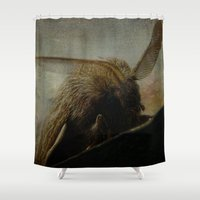 moth Shower Curtains featuring MOTH by mimulux