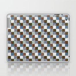 Rustic Brown Gray Blue Patchwork Laptop & iPad Skin