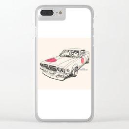 Crazy Car Art 0170 Clear iPhone Case