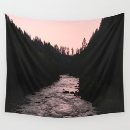 PNW Pink River Love Wall Tapestry