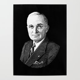 President Harry Truman Graphic Poster