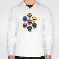 power rangers Hoodies featuring Mighty Morphin Power Rangers by Some_Designs