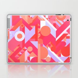 GEOMETRY SHAPES PATTERN PRINT (WARM RED LAVENDER COLOR SCHEME) Laptop & iPad Skin