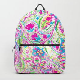 Paisley Watercolor Brights Backpack