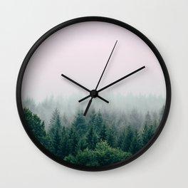 pink and green #society6 #buyart Wall Clock