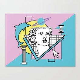 Apollo - Vaporwave - 80s Canvas Print