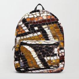 Roman Geometric Squares Tile Mosaic Pattern Backpack
