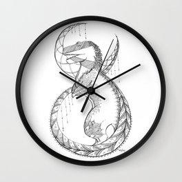 T-Rex Tattoo Lace  Wall Clock