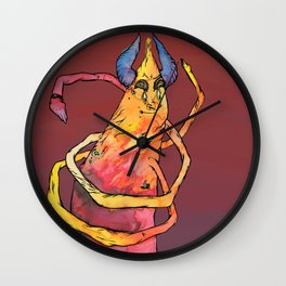 Twist Monster Wall Clock