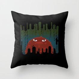 Cave Grump Throw Pillow