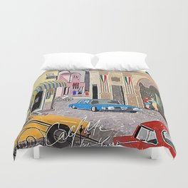 Call me by Your Name Drawing Duvet Cover