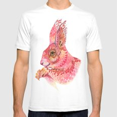 The squirrel magic  MEDIUM White Mens Fitted Tee