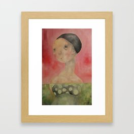 Pink Lady Swiming Framed Art Print