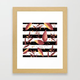 plants and stripes Framed Art Print