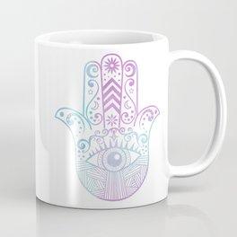 Hamsa Hand Purple and Blue Watercolor Coffee Mug