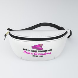 awesome police grandma Fanny Pack