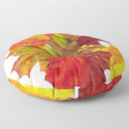 Autumn Fall Leaves Foliage Art Floor Pillow