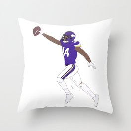 Stefon Diggs Catch American Football NFL Throw Pillow