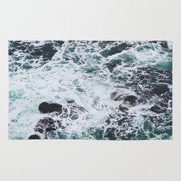 OCEAN - ROCKS - FOAM - SEA - PHOTOGRAPHY - NATURE Rug