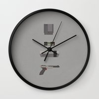 8 bit Wall Clocks featuring 8-bit love (NES) by avoid peril
