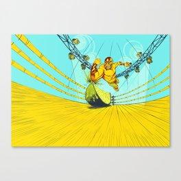 Luchador Lime Canvas Print