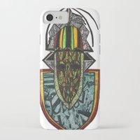 rasta iPhone & iPod Cases featuring African Rasta by Kwaku Osei Studio