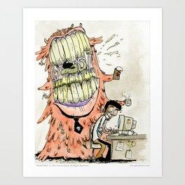 Monsters - 02 The Bossy Blob Art Print