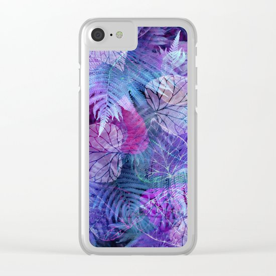 Forest Flora 3 Clear iPhone Case