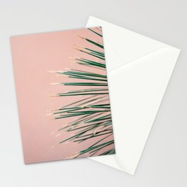 Green on Coral | Botanical modern photography print | Tropical vibe art Stationery Cards