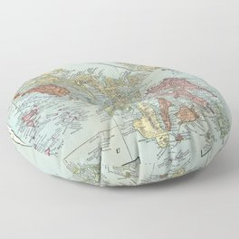 Vintage Map of The Philippines (1898) Floor Pillow